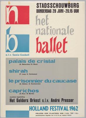 B1962-004.jpg; B1962-004; Palais de cristal; Shirah; Le prisonnier du Caucase; Caprichos; affiche