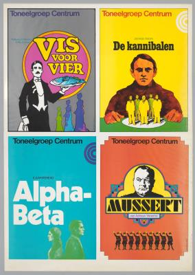 T1973-021.jpg; T1973-021; Vis voor vier; De Kannibalen; Alpha-Beta; Mussert; affiche