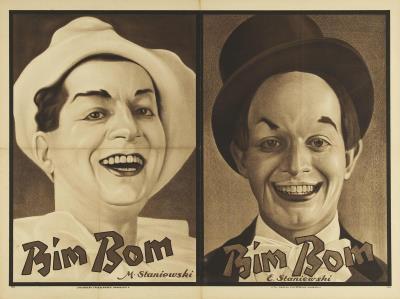 TEY0010000303.jpg; TEY0010000303; Clown Bim Bom (E. Staniewski); affiche